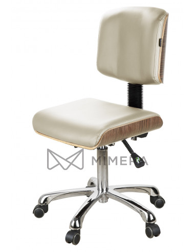 Kozmetická stolička DENY TEAK - Béžová